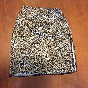 Cloud Leopard Print Skirt